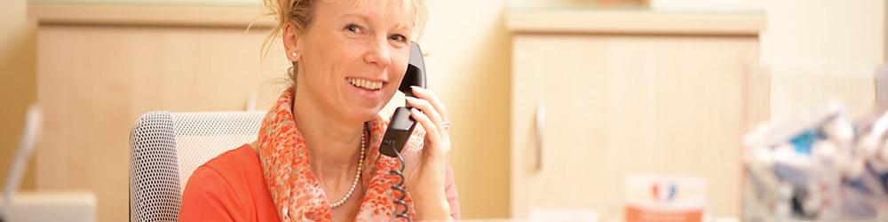 Frau Gramlich ist Ihr Ansprechpartner für Termine und Organisation